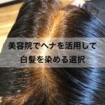 美容院でヘナで白髪を染める選択
