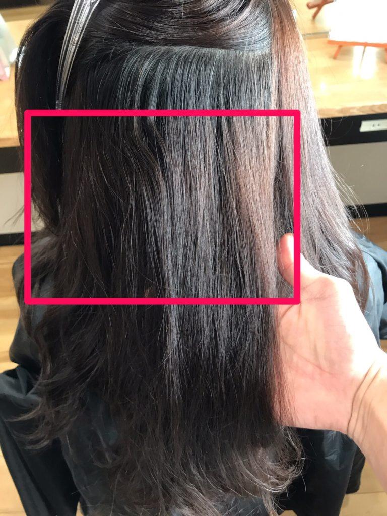 海外赴任中に白髪染めをしたらムラになってしまった髪を補正する実例