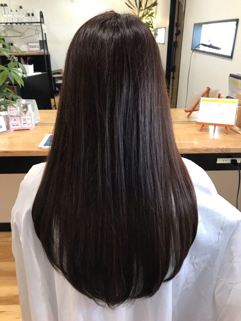 白髪染めでかぶれてしまう方が自然なブラウンに染める実例