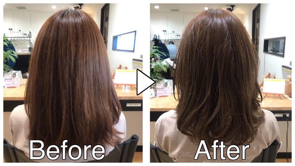 発色・色持ちが良くなり髪を強化することができる酸トリートメントを導入します